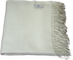 100% Baby Alpaca throw in a natural color.  You can never go wrong with a color like this.
