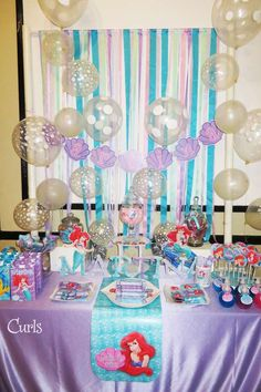 Little Mermaid Disney Birthday Party Ideas | Photo 17 of 20 | Catch My Party