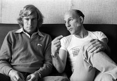 James Hunt & Stirling Moss #MAXIMUM #MAXIMUMFORMEN