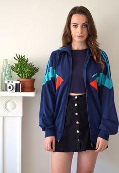 90's Vintage Blue Adidas Track Jacket | Ica Vintage | ASOS Marketplace