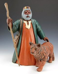 Kente Santa with Tiger Africa