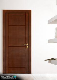 Los mejores dise os de puertas de madera modernas para for Puerta entamborada