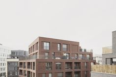LOTS 5 & 6_ZAC DES GRANDS MOULINS_PANTIN - Avenier Cornejo architectes | Paris 75010 Facade Architecture, Contemporary Architecture, Solid Brick, Agricultural Land, Brick Texture, Construction, Lush Garden, Master Plan, Le Moulin