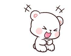 LINE Creators' Stickers - Milk & Mocha : Playful (Animated) Example with GIF Animation Cute Cartoon Images, Cute Couple Cartoon, Cute Love Cartoons, Cartoon Pics, Cute Cartoon Wallpapers, Cute Love Gif, Cute Love Pictures, Cute Cat Gif, Calin Gif