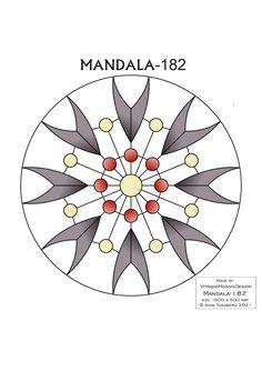 MANDALA-182 Stained glass pattern, Mosaic pattern, Painting glass pattern, to DOWNLOAD PDF, Suncatcher, Window panel, Window handing ויטראז by VitrageMosaicDesign on Etsy