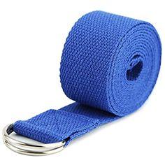 a93683c2318e #FFFFFFT Yoga Strap - Durable Cotton Exercise Straps - Adjustable D-Ring  Buckle Yoga