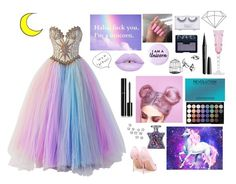"""I am a UNICORN "" by seniora ❤ liked on Polyvore featuring Lime Crime, Sonia Kashuk, NARS Cosmetics, Sophia Webster, Saint Louis, Chanel, Marc Jacobs and Bond No. 9"