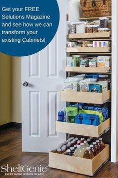 Learn how to get more storage and access to your pantry with our custom made solutions!