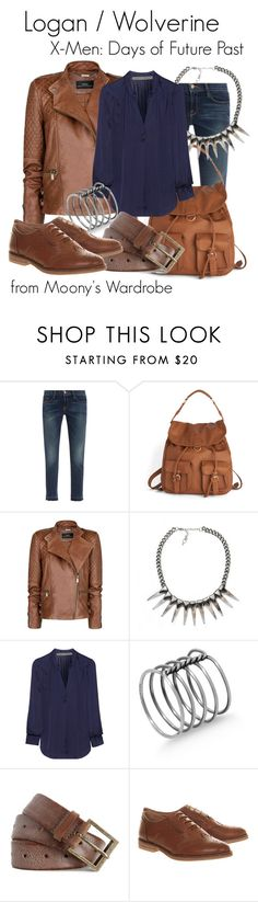 """Logan/Wolverine: X-Men Days of Future Past"" by evalupin ❤ liked on Polyvore featuring Frame Denim, MANGO, Impulse, Raquel Allegra, Ann Demeulemeester, Zadig & Voltaire, Office, logan, xmen and wolverine"