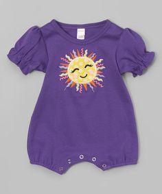 Look at this #zulilyfind! Purple Sun Romper - Infant #zulilyfinds