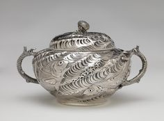 RISD Museum: Gorham Manufacturing Company, American, 1831-. Tureen, 1884. Silver. Height: 17.8 cm (7 inches). Gift of Mrs. Pierre Brunschwig 81.072