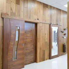 Choose from our stainless steel rails, pocket doors and barn door rails. Available from our showrooms and online Sliding Door Design, Modern Sliding Doors, Wooden Door Design, Main Door Design, Walnut Doors, Door Design Interior, Bedroom Door Design, Interior Pocket Doors, Stainless Steel Railing