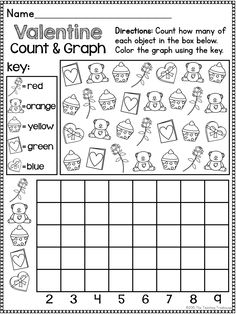 This no prep, print & go packet contains Valentine\'s Day themed alphabet practice, rhyming, syllables, reading comprehension, patterns, numbers 1-20, counting, adding, subtracting, shapes, and more! 60 ready to use, no prep math and literacy printables in ink saving black and white. Aligned to Kindergarten Common Core standards-can also be used as a review pack for first grade. $