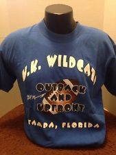 Kentucky Wildcat, Football Bowl Game t-shirt, Blue, large, Outback Bowl Tampa