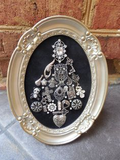 Sold. Oval Jeweled Christmas Tree by Jewellady82 on Etsy