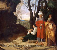 Giorgione - The Three Philosophers Art Print #threephilosophers #wallart #bibleart