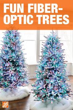 2539c9ce8c49 Fiber Optic Christmas Trees - Artificial Christmas Trees - The Home Depot