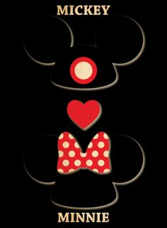 Mouse Ears / Mickey & Minnie Art Print