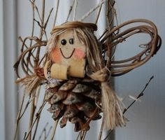 Pinecone angel craft ornament. DIY kids could do! | best stuff