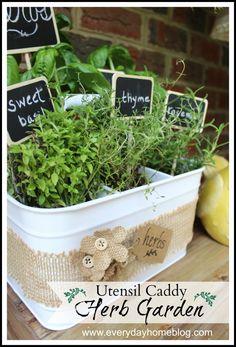 Utensil Caddy Herb Garden | The Everyday Home