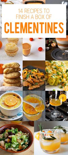 14 Recipes to Help You Finish a Box of Clementines - cakes, cupcakes, salads, cookies, and of course cocktails