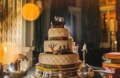 Pastel de bodas con la temática de harry Potter