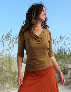 Gaia Conceptions - Float Neck Banded Shirt, $85.00 (http://www.gaiaconceptions.com/float-neck-banded-shirt/)