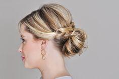 Penteados de festa para cabelos médios - Madrinhas de casamento