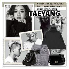 """Taeyang- BIG BANG"" by aleciamontana ❤ liked on Polyvore featuring Victoria, Victoria Beckham and Ray-Ban"