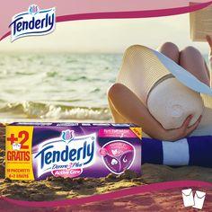 Per superare i raffreddori fuori stagione respirate l'aria del mare ricca di iodio e portate con voi #Tenderly Dermo 3 Plus Active. Morbidi, in fibra di cotone e con mentolo in microgranuli.