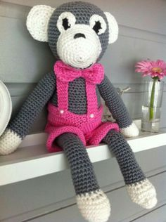 Crochet monkey made by oma's haaksels