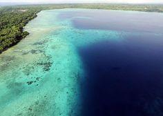 Aerial view of Espiritu Santo, Vanuatu
