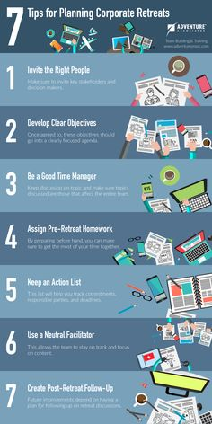 7 Tips for Planning Corporate Retreats (Infographic)