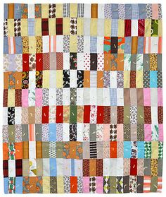 Scrappy Bars Crib Quilt, c. 1970, Pennsylvania