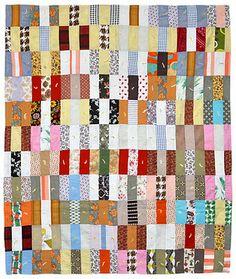 Scrappy Bars Crib Quilt, c. 1970, Pennsylvania