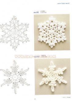 cristalli di neve uncinetto - Cerca con Google