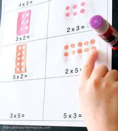 Teaching Multiplication Arrays with a Hole Punch Math Fact Fluency, Teaching Multiplication, Teaching Math, Math Resources, Math Activities, Math Charts, Singapore Math, Math Work, Third Grade Math