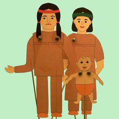 native american puppets : animated stick Puppet