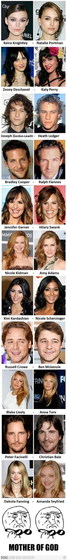 celebrity vs celebrity look alike hahaha :)