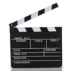 S/O® Ciak da regista 30 x 27 cm, stile Hollywood, lavagna per gessetti: Amazon.it: Giochi e giocattoli