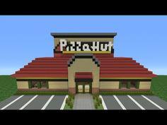 Minecraft Tutorial: How To Make A Pizza Hut (Restaurant)