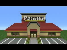 Minecraft Tutorial: How To Make A Pizza Hut (Restaurant)