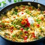 One-Pan Chicken Fajita Rice