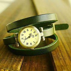 EUR € 6.90 - vrouwen-horloge bohemian multilayered leren armband, Gratis Verzending voor alle Gadgets!
