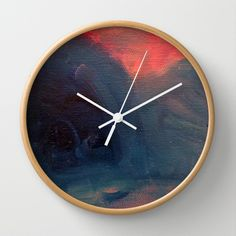 Angry Mountain / Female Figure Wall Clock by Morgan Ralston - $30.00