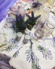 Table Decorations, Furniture, Home Decor, Lavender, Decoration Home, Room Decor, Home Furnishings, Home Interior Design, Dinner Table Decorations