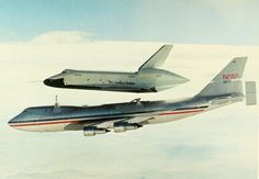 supersonic-youth:  On 13 September 1977, the Space Shuttle orbiter Enterprise made its second free-flight in the Approach and Landing Test program after separating from the 747 Shuttle carrier aircraft. Astronauts Eagle and Truly were controlling the Enterprise. #DailyShuttle
