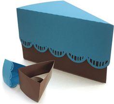 Silhouette Online Store: cake slice- cupcake box