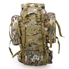 80L Multifunction Outdoor Trekking Travel Rucksack Large Capacity Climbing Bags Camouflage Mochila Militar Tactical Backpack #Multifunction, #Outdoor, #Trekking, #Travel, #Rucksack, #Large, #Capacity, #Climbing, #Bags, #Camouflage, #Mochila, #Militar, #Tactical, #Backpack