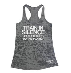 WORKOUT TANK TOP Let The Results Do The by StrongGirlClothing